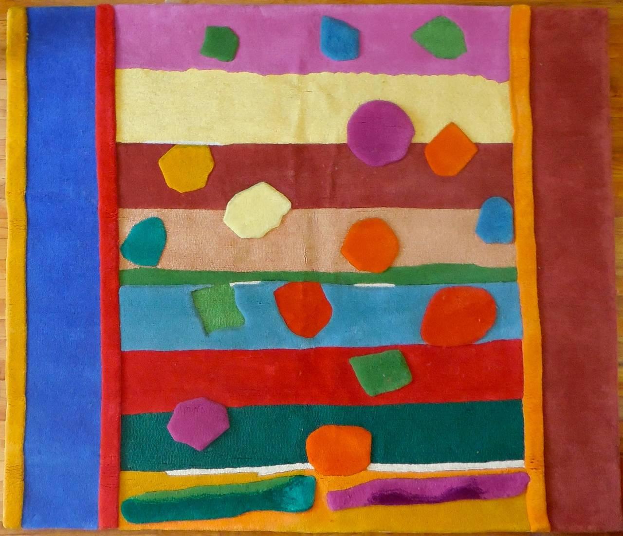 HOLIDAY Pile Tapestry Rug Esteben Vicente By Edward Fields - Art by Esteban Vicente