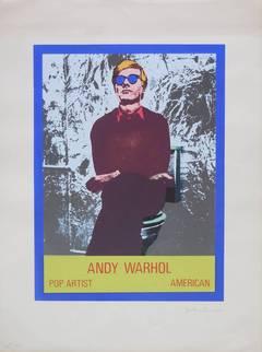 Andy Warhol Photo Silkscreen Serigraph Pop Art