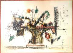 Chaos, Machine Sculpture Lithograph