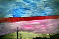 Untitled, Painted Photograph, Landscape by Nobuyoshi Araki