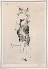 "Marino Marini Etching ""Miracle"" Hand Signed and Numbered"