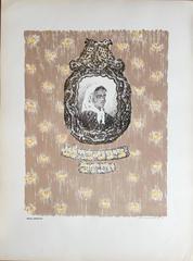 Vintage Russian Shtetl Judaica Lithograph