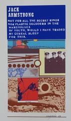 Epitaph/Tombstone jack Armstrong Pop Art  1969 Color Screenprint Richard Merkin