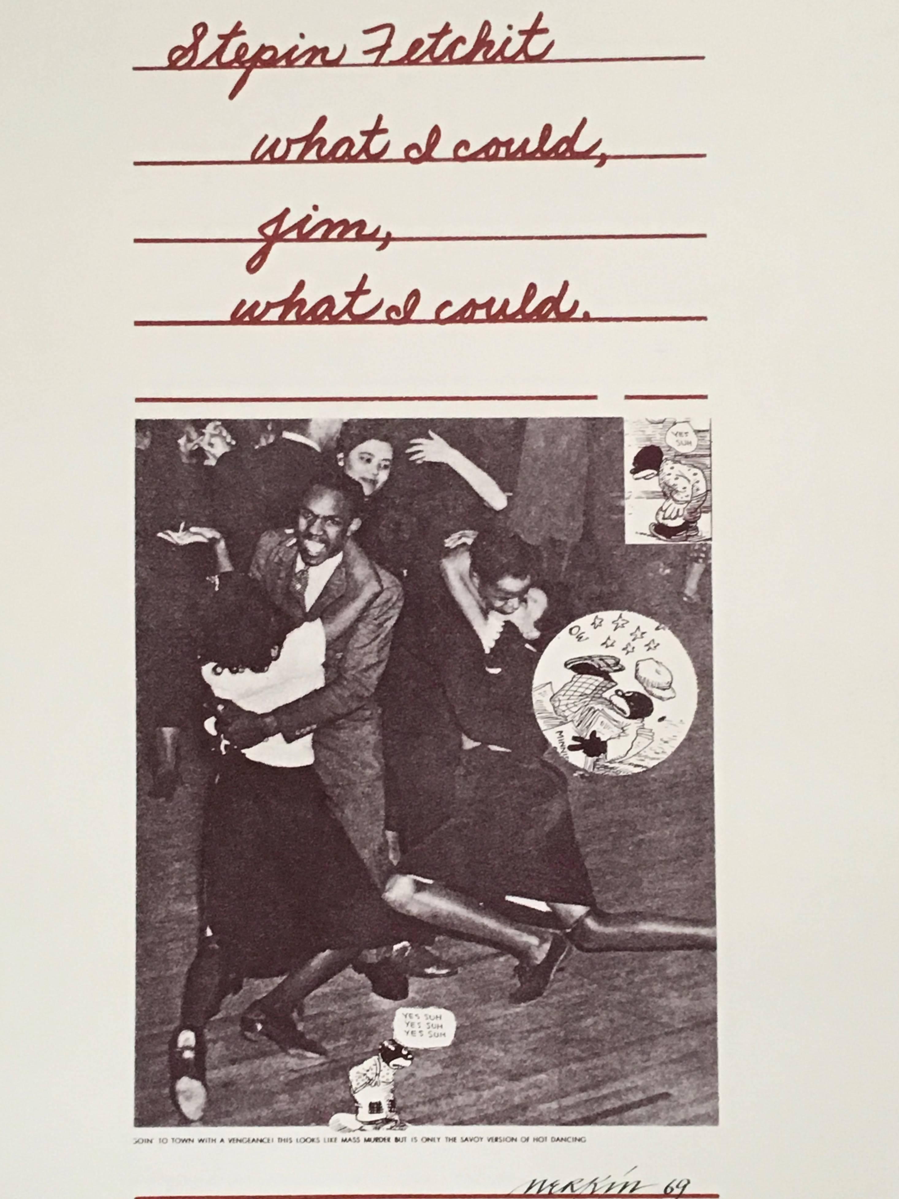 Stepin Fetchit Pop Art 1969 Color Screenprint Richard Merkin