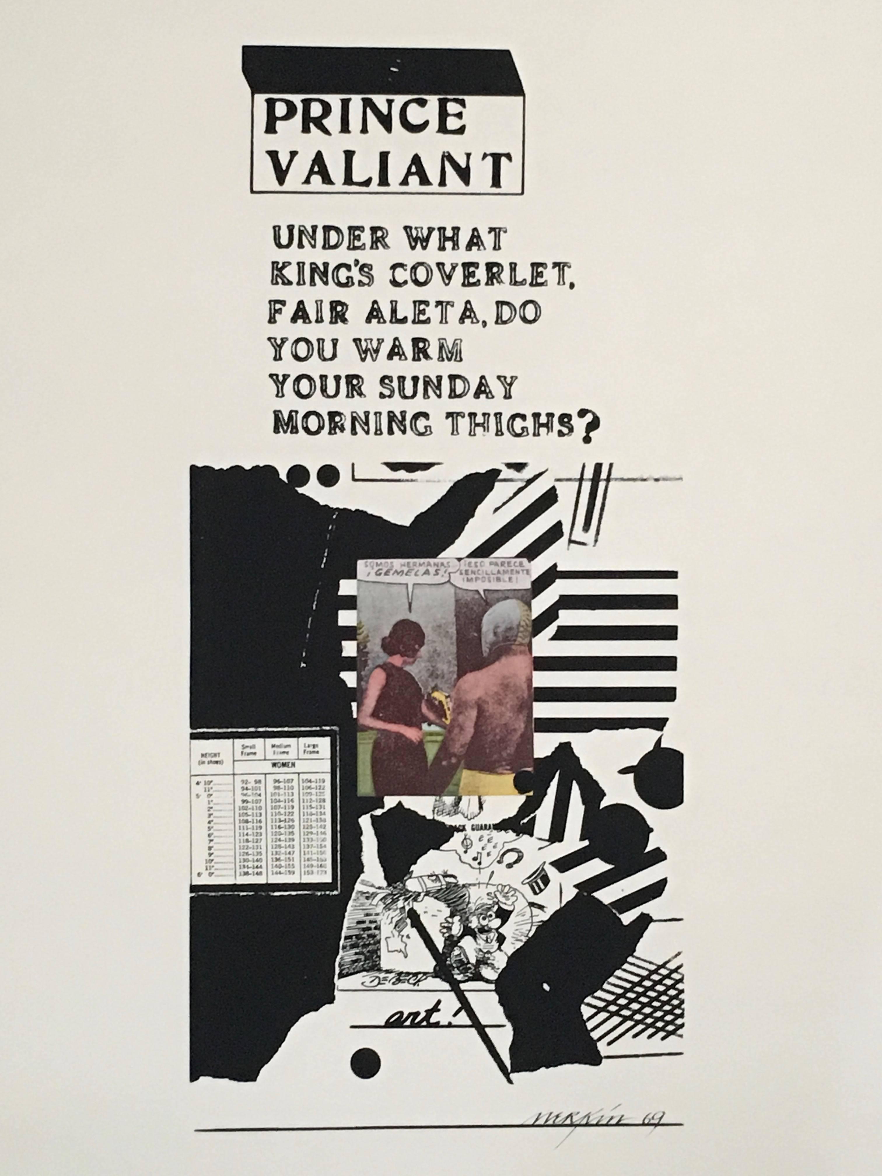 Prince Valiant Pop Art 1969 Color Screenprint Richard Merkin
