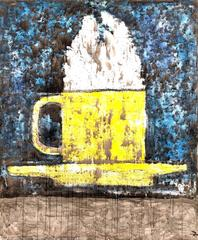 Aaron Fink - Very Large Coffee Cup Painting by Aaron Fink