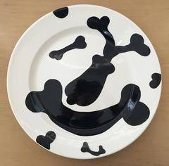 Gronk Rare Art Plate Pottery, Black and White 1994