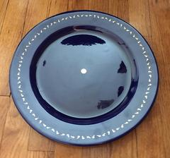 Rare Eric Orr Art Plate Pottery, Blue and Gold 1994