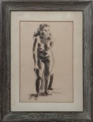 Rare Early Nude Drawing American Modernist Sculptor