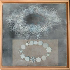 Theory and Experiment, Encaustic and Laminated Paper on Plywood