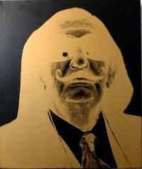 Chris Makos Original Silkscreen Painting of Salvador Dali