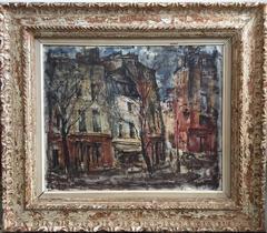 Quai De La Tournelle, Paris Street Scene Oil Painting, American Deaf Modernist