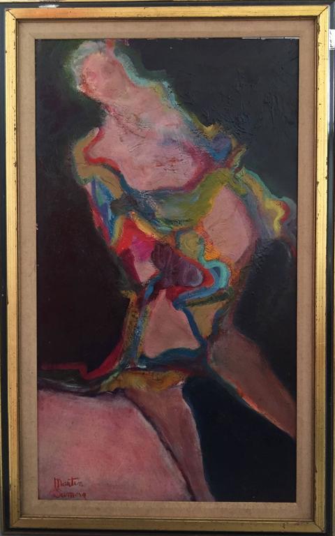 Figure of a Woman, Oil on Board