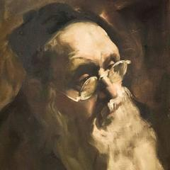 Portrait of a Rabbi, Judaica Oil Painting
