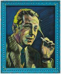 Object of Desire: Bogie (Humphrey Bogart), 1983 Pastel on Photograph