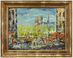 Impressionist Cityscape, Oil Painting Dutch Artist, Paris Landscape Scene