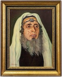 Rabbi with Tefillin, Judaica Portrait