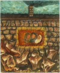Hananiah, Mishael, and Azariah in the Furnace of Fire, Prayer, Oil Painting