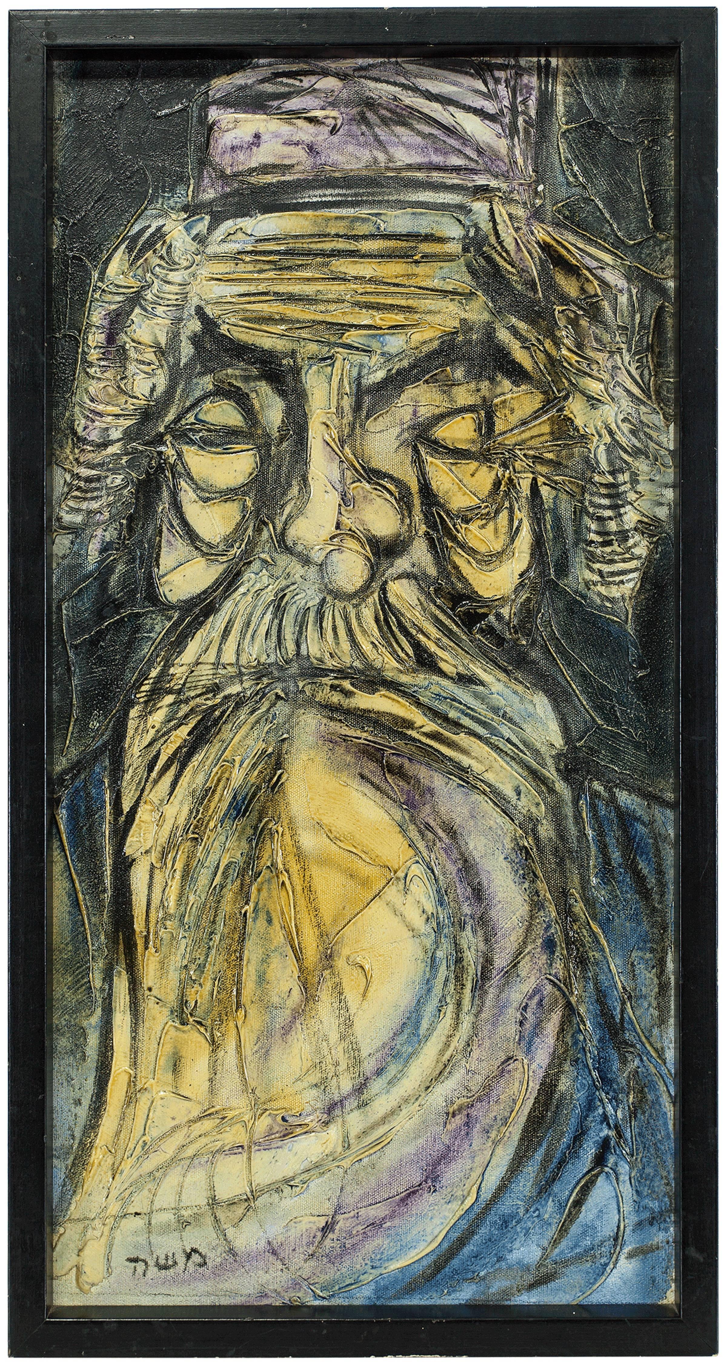 Rabbi Portrait, Acryclic on Canvas