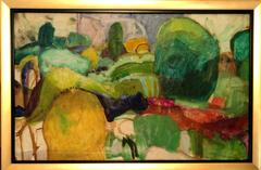 Modernist American Abstract Landscape Oil Painting