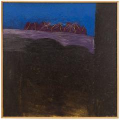 Large Israel Modernist Landscape Painting Bezalel Artist