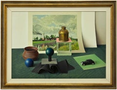 Still Life with Toy Car, Trompe-l'oeil Painting