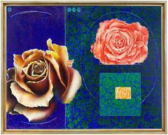 Surrealist Trompe L'oeil, Lush Roses