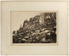 Outside Jerusalem, Tomb of Ashalom, Judaica Print