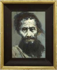 Portrait of a Man, Mid Century Expressionast Israeli Painting