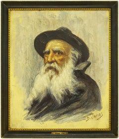 Portrait of a Rabbi, Belgian Impressionist Painting