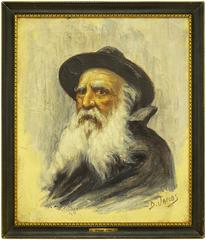 Portrait of a Rabbi, Belgian Impressionist Painting