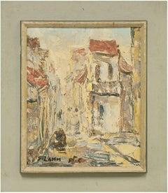 32 Hashiloah St. Haifa, Impressionist Israeli Cityscape Painting