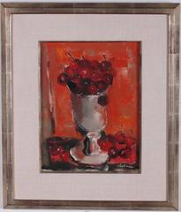 Vibrant Bowl of Cherries Oil Painting by Pierre Jerome