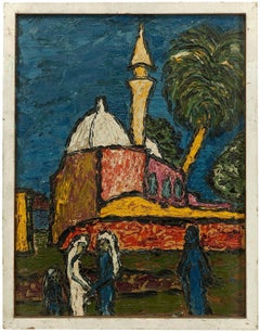 Akko - Israel, Rare Early Modernist Impasto Painting