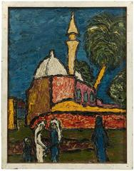 Akko - Israel, Rare Early Modernist Impasto Painting