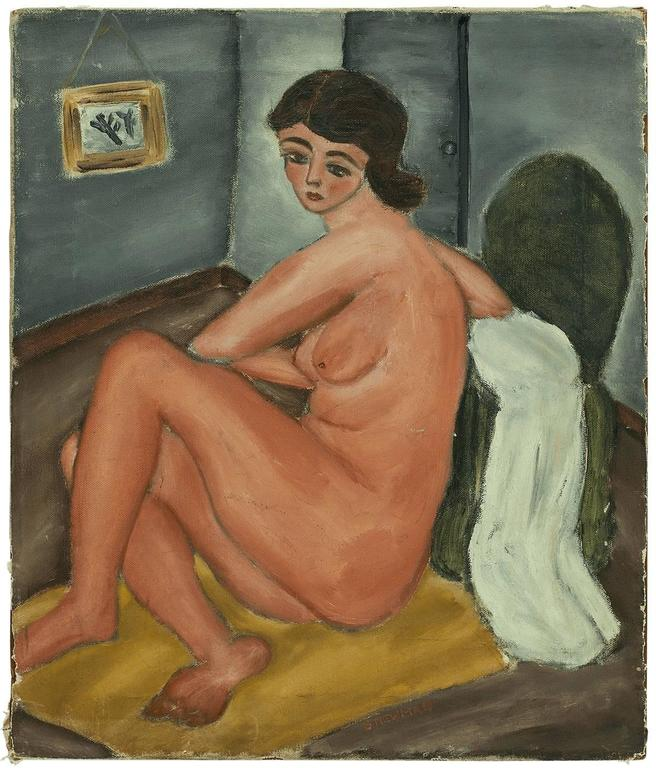 Sarah Newman Nude Painting - Nude Female Figure
