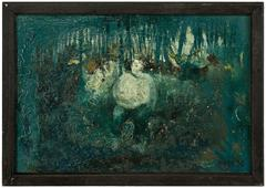 Figure in the Forest, Expressionist Oil Painting