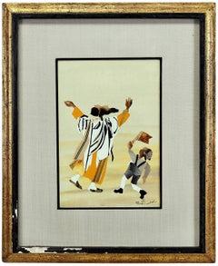 Judaica, Torn Paper Collage