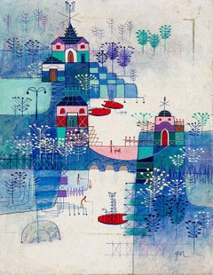 Abstract Village Naive Chinese Modernist Painting