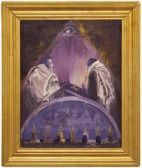 "Kabbalah Judaica Torah Painting ""SWIATTO TORY I"" Synagogue interior"