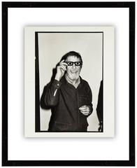 John Cage, 1977, Vintage Silver Gelatin Signed Photograph