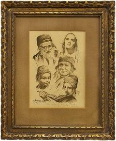 The Yemenite Family, Multi Generational Israeli Family Portrait