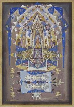 Mandala Judaica Post Soviet Russian Avant Garde Israeli Leviathan Group Painting