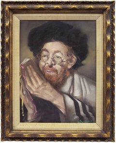 Hungarian Judaica, Hassidic Rabbi painting