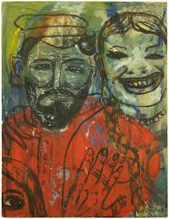 Surrealist Colorful Portrait of a Couple, Family at Play