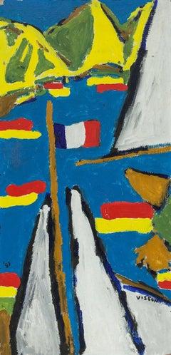 Liberte, Egalite, Fraternite, Modernist Painting