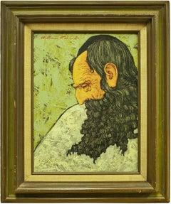 "Judaica Modernist ""The Sage"" Rabbi Portrait"