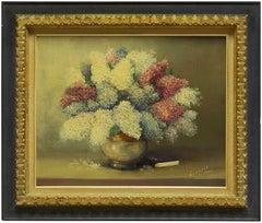 Vase of Flowers with Book, Interior Scene