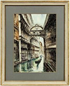 Canal à Venise, Watercolor