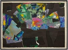 Sag Harbor Series No. 36 Torn Paper Collage